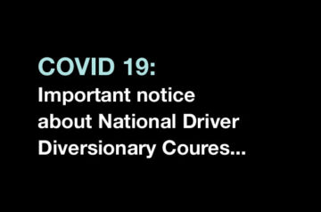 Covid 19 information about driver courses