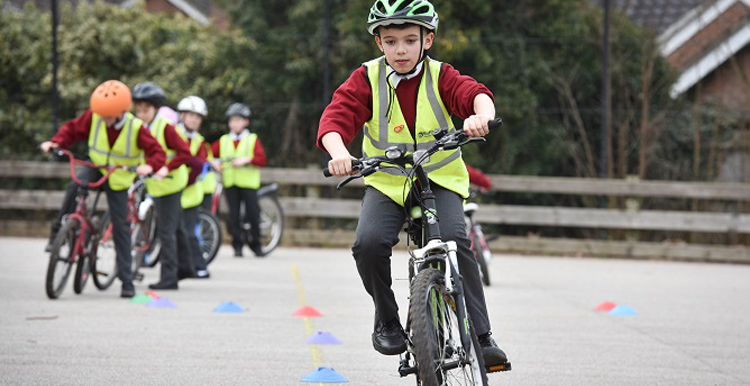 Cycle training in a primary school