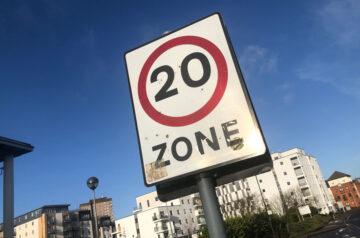 20mph limit sign