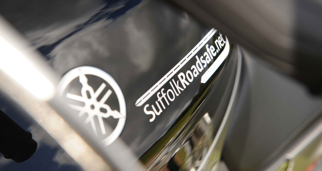 Suffolk Roadsafe car sticker