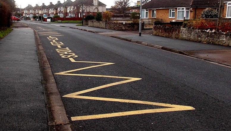 School parking road markings